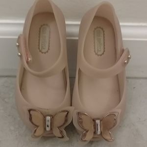 Mini Melissa butterfly shoes size 7